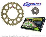 Renthal Sprockets and GOLD Renthal SRS Chain - Suzuki GSXR 600 W/X/Y (1998-2000)